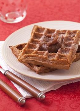 Gaufres à la farine de châtaigne et crème de marrons – sans gluten sans lactose