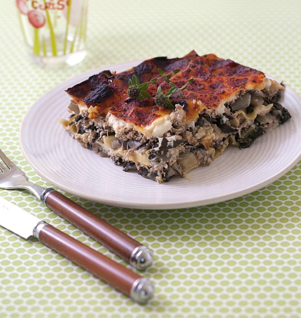 Photo de la recette: Lasagnes aux blettes, béchamel et agneau