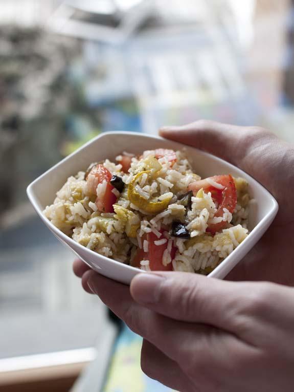 Salade de riz aux l gumes grill s et tomates biod lices - Antipasti legumes grilles ...