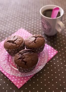 Muffins au chocolat noir – sans lactose sans gluten
