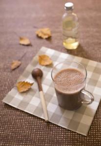 Chocolat chaud végétal à la purée de noisette