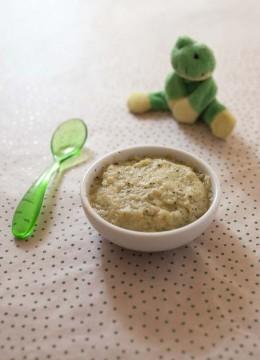 Purée bébé courgette, pomme de terre, oeuf – à partir de 7 mois