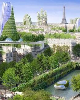 Projet d'architecture végétale pour Paris en 2050