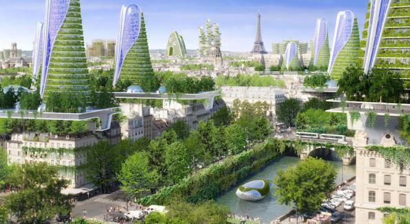 Ann e 2050 la ville de paris imagin e par vincent for Projet architecture paris