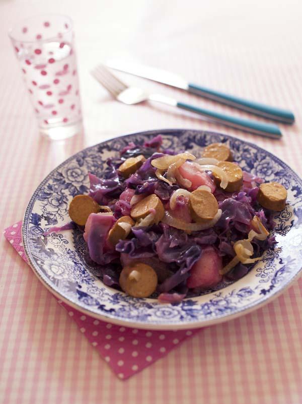 Chou Rouge Aux Soyciss Et Poires Recette Vegan Biodélices - Cuisiner du chou rouge