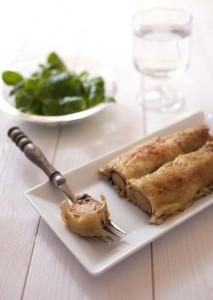Crêpes roulées aux Soyciss, champignons et moutarde ...