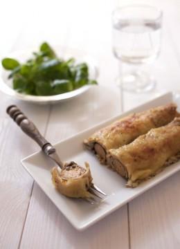 Crêpes roulées aux Soyciss, champignons et moutarde – recette végétarienne