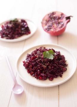 Salade de chou rouge et grenade