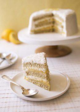Gâteau layer cake au citron et noix de coco {BATTLEFOOD#29}