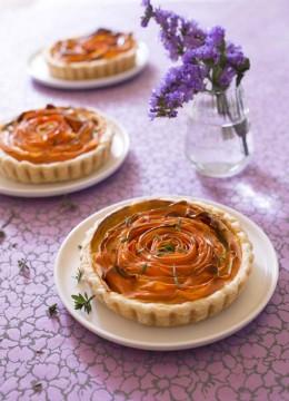 Tartelettes spirale aux carottes et crémeux curry Soy