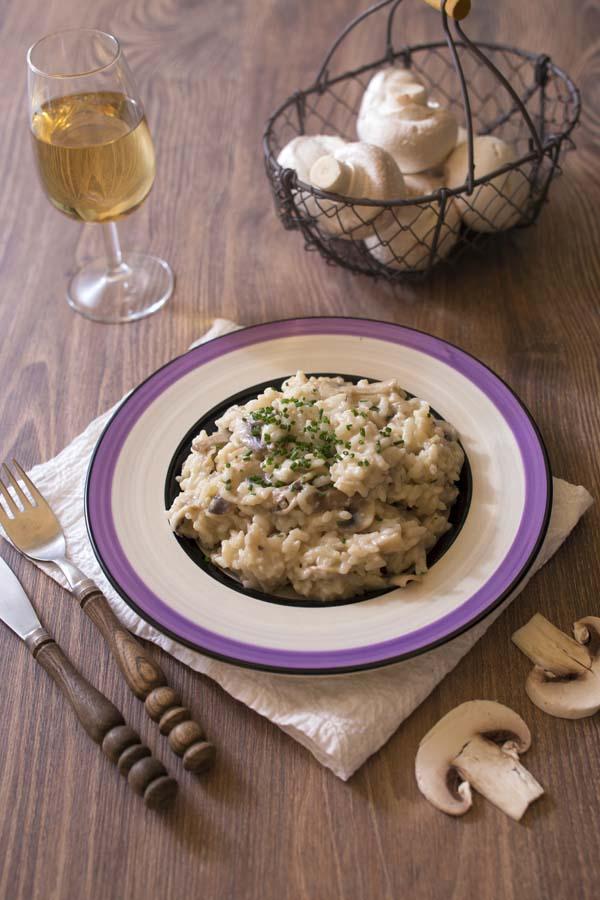 risotto aux champignons et pur e de noix de cajou biod lices. Black Bedroom Furniture Sets. Home Design Ideas