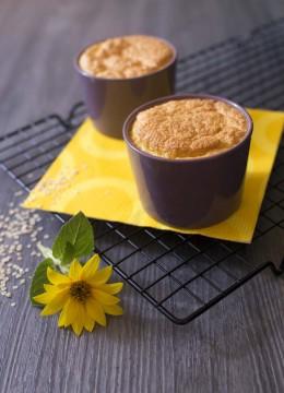 Soufflés inratables au fromage et flocons de quinoa – sans gluten