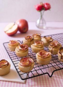 Tartelettes rosaces aux pommes