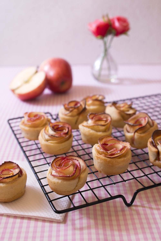 tartelettes rosaces aux pommes recettes de cuisine biod lices. Black Bedroom Furniture Sets. Home Design Ideas