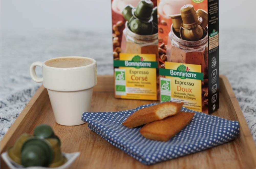 Bonneterre créé des capsules de café bio dégradables compatibles Nespresso