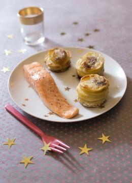 Saumon rôti et petits gratins de pomme de terre