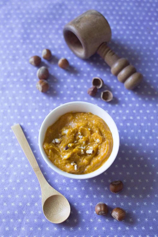 Pur e de courge butternut aux noisettes recettes de - Comment cuisiner une courge butternut ...