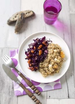 Quinoa aux noix de cajou et clémentines