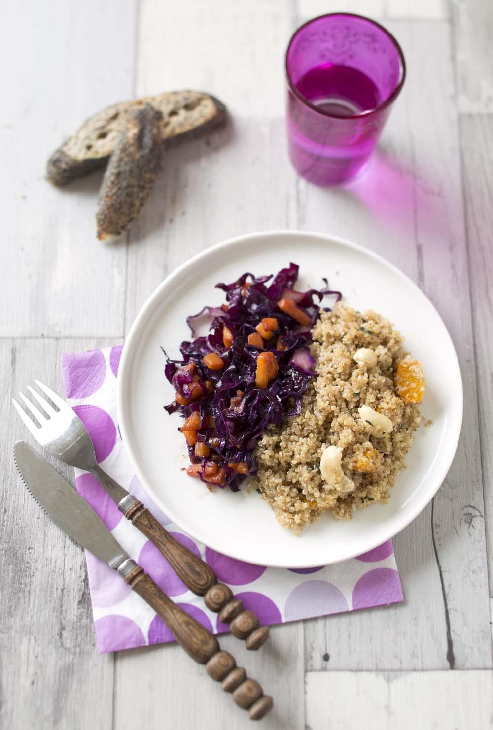 Quinoa aux noix de cajou et cl mentines recettes de for Cuisine quinoa