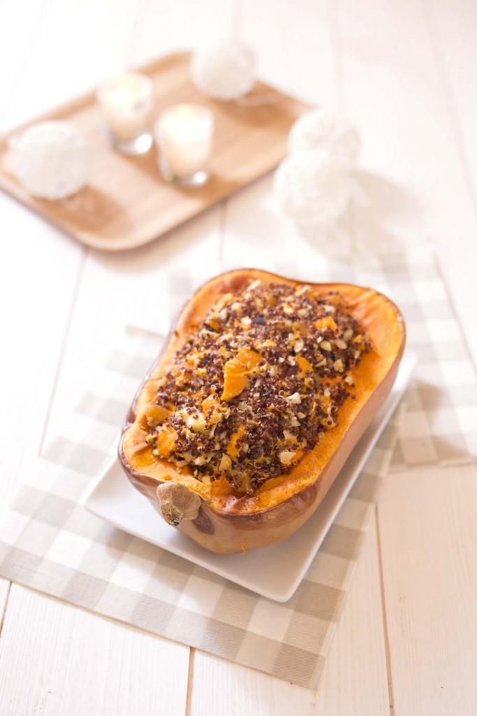 Courge Butternut Rotie Au Quinoa Chevre Et Fruits Secs Recettes