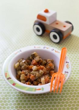 Petits dés de carottes et panais poêlés – à partir d'1 an
