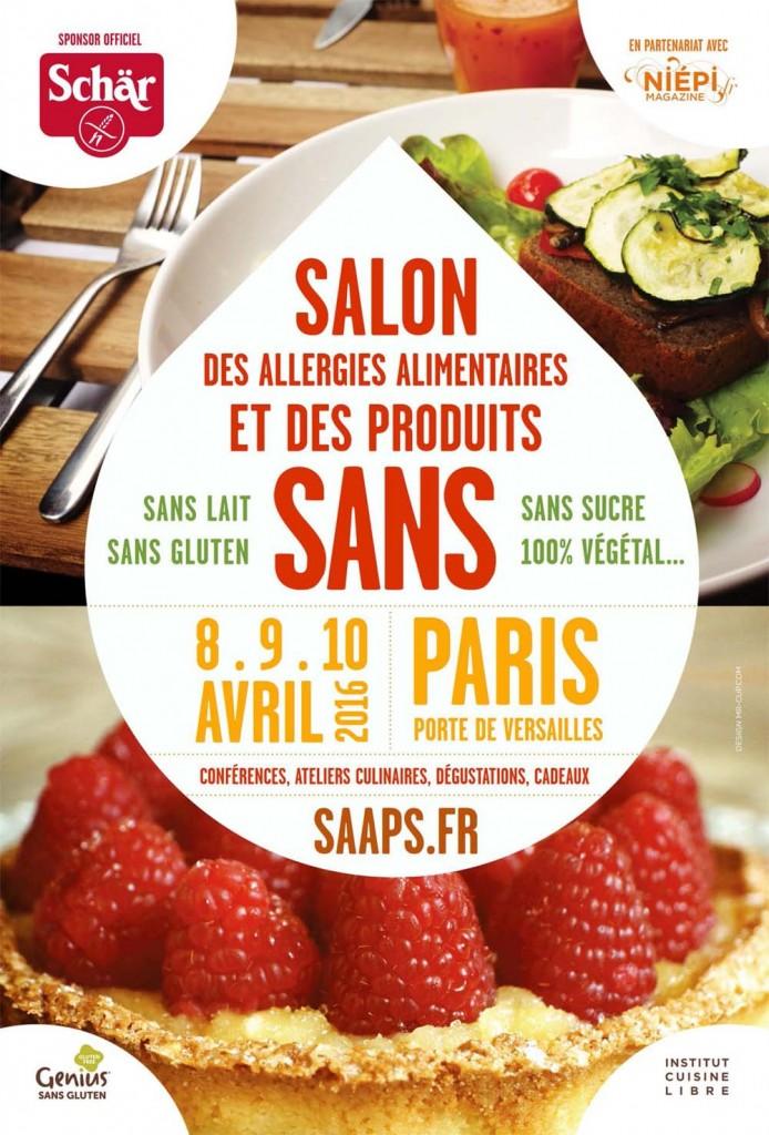 """SALON des ALLERGIES ALIMENTAIRES et PRODUITS """"SANS"""" 8 au 10 Avril à Paris"""