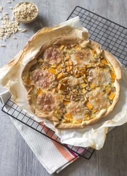 Quiche à la courge butternut, pignons et mozzarella – Bataille food #33