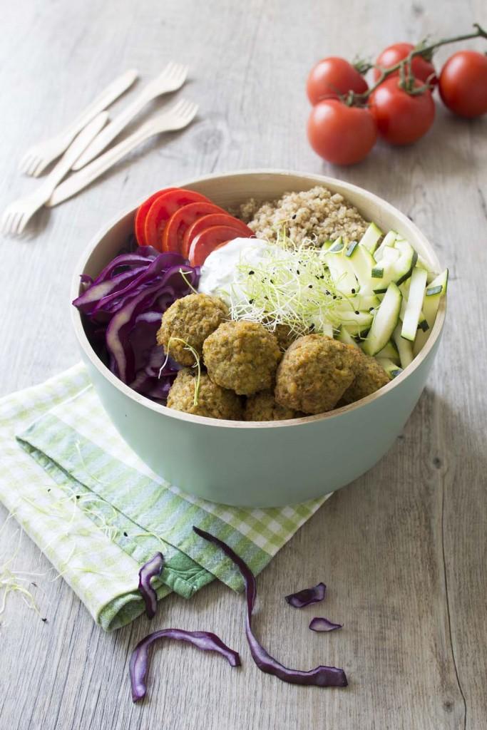 Photo de la recette : Buddha bowl aux falafels