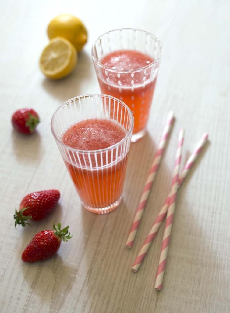 Photo de la recette : Limonade fraises citron
