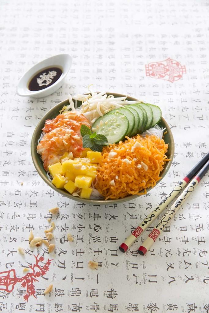 Photo de la recette : Buddha bowl asiatique aux crevettes