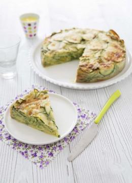 Gâteau invisible aux courgettes et safran