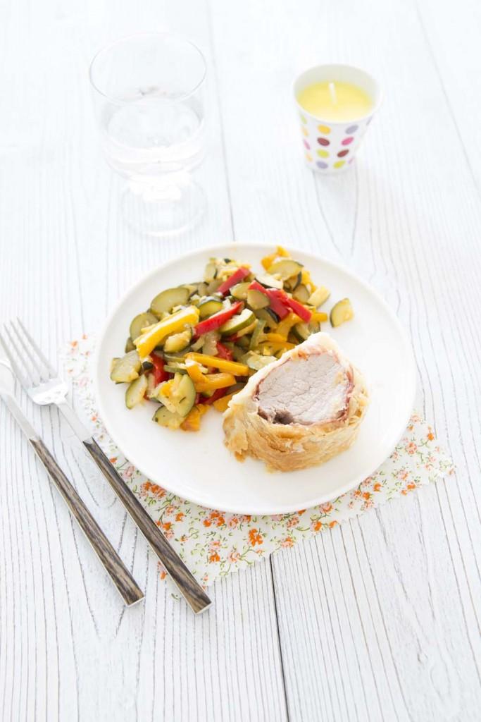 Photo de la recette : Filet mignon de porc en croûte feuilletée de jambon cru