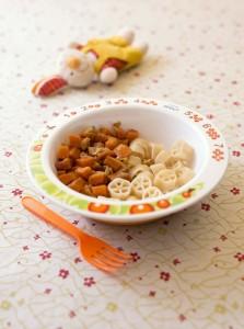 Petits dés de carottes poêlées aux oignons