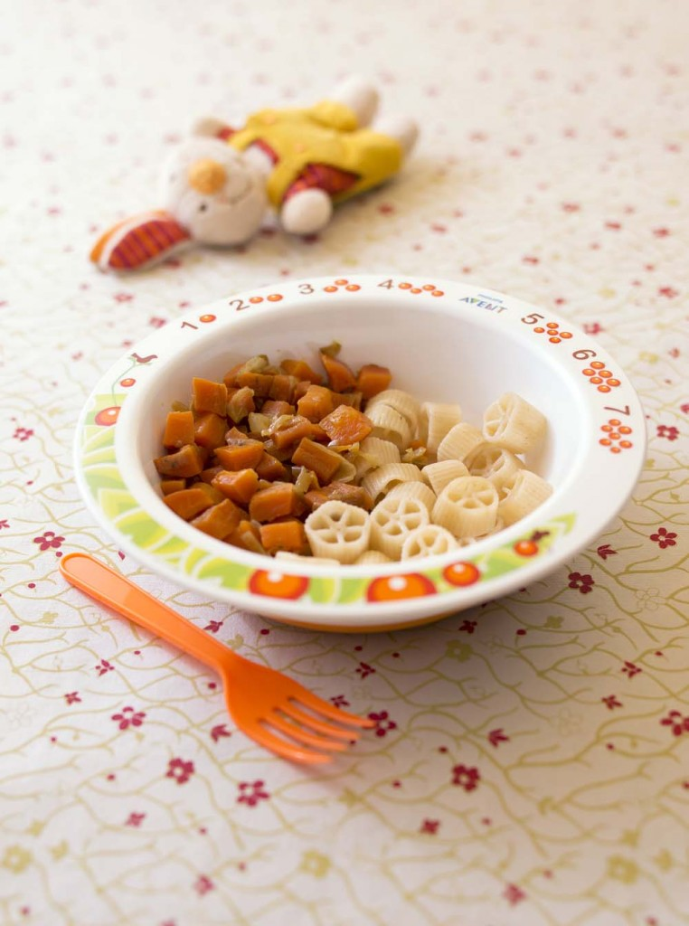 Photo de la recette : Petits dés de carottes poêlées aux oignons