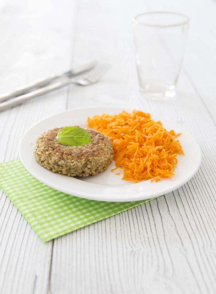 Photo de la recette : Galettes végétales quinoa boulgour saveur d'Italie