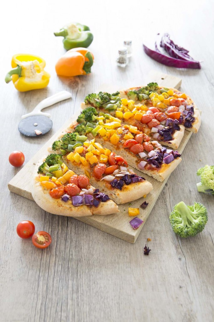 Photo de la recette : Pizza veggie arc-en-ciel ultra gourmande