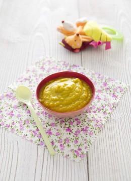 Purée de bébé carotte brocolis jambon – à partir de 7 mois