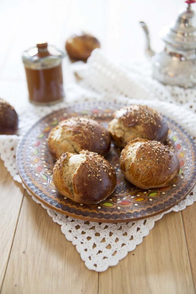 Photo de la recette : Brioches marocaines à l'anis et eau de fleur d'oranger