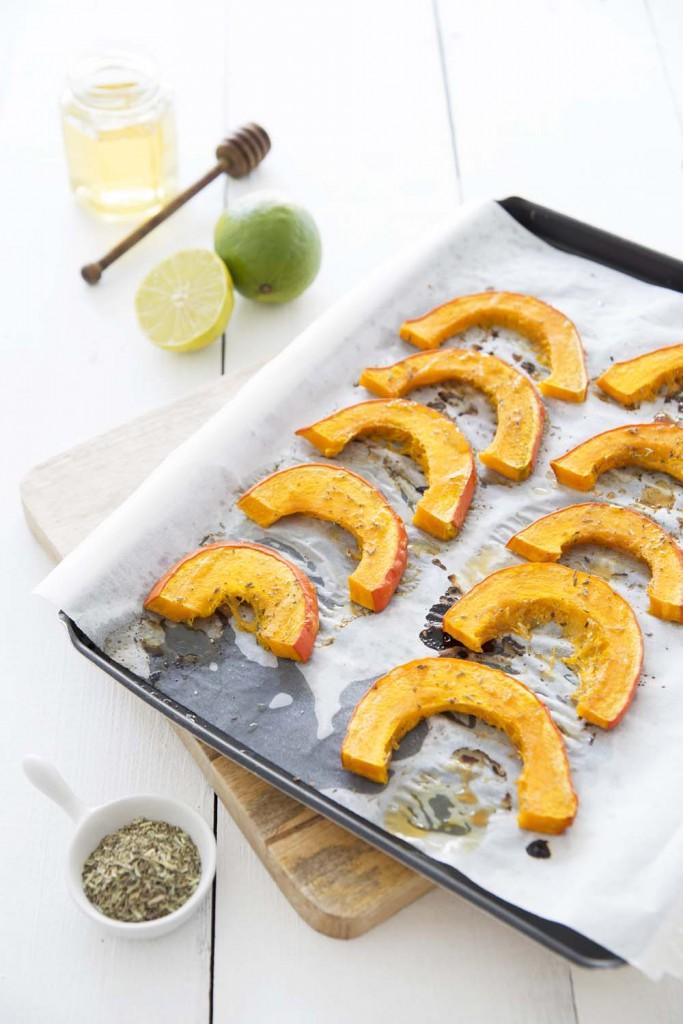 Photo de la recette : Potimarron rôti au miel et citron vert