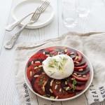 Salade de tomate et betterave à la burrata
