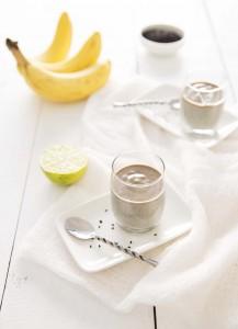 Petites crèmes bananes sésame noir – vegan