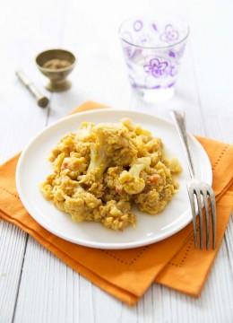 Curry de chou-fleur aux haricots mungo