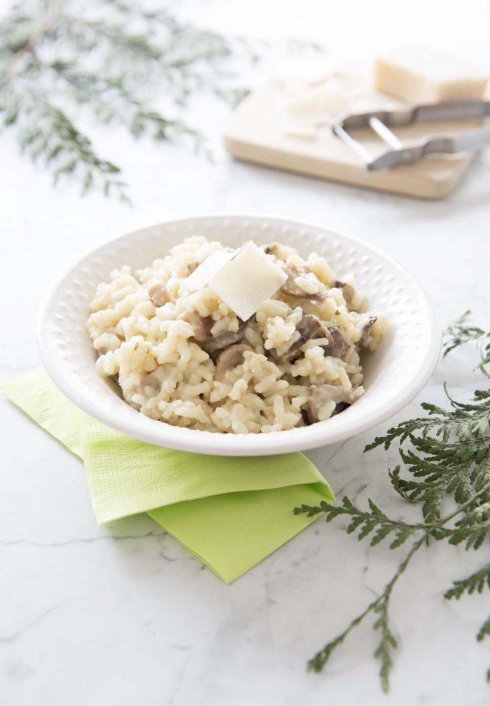 Photo de la recette : Risotto aux marrons et champignons pleurotes