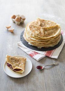 Crêpes sans lactose au lait d'avoine : photo de la recette