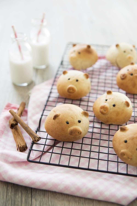 Petits cochons en petits pains au lait: photo de la recette