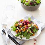 Salade d'hiver courge mâche et chou rouge