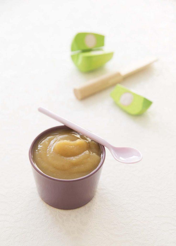 Photo de la recette : Compote bébé pommes vanille