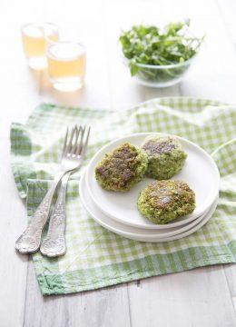 Galettes végétales aux brocolis et flocons d'avoine
