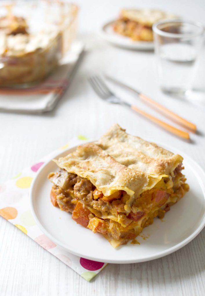 Photo de la recette : Lasagnes au potimarron et seitan