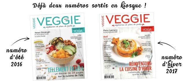 Les deux premiers magazines Esprit Veggie